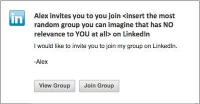 Bad linkedin invite